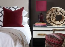 Dark-red-accents-brighten-this-bedroom-in-white-and-deep-gray-85768-217x155