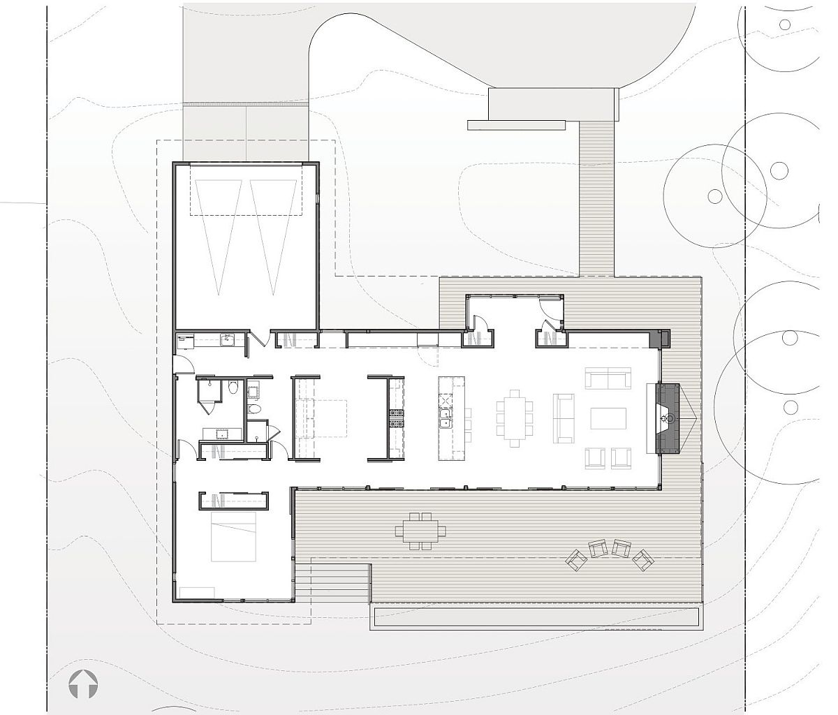 Design plan of Hotchkiss Residence in Vancouver