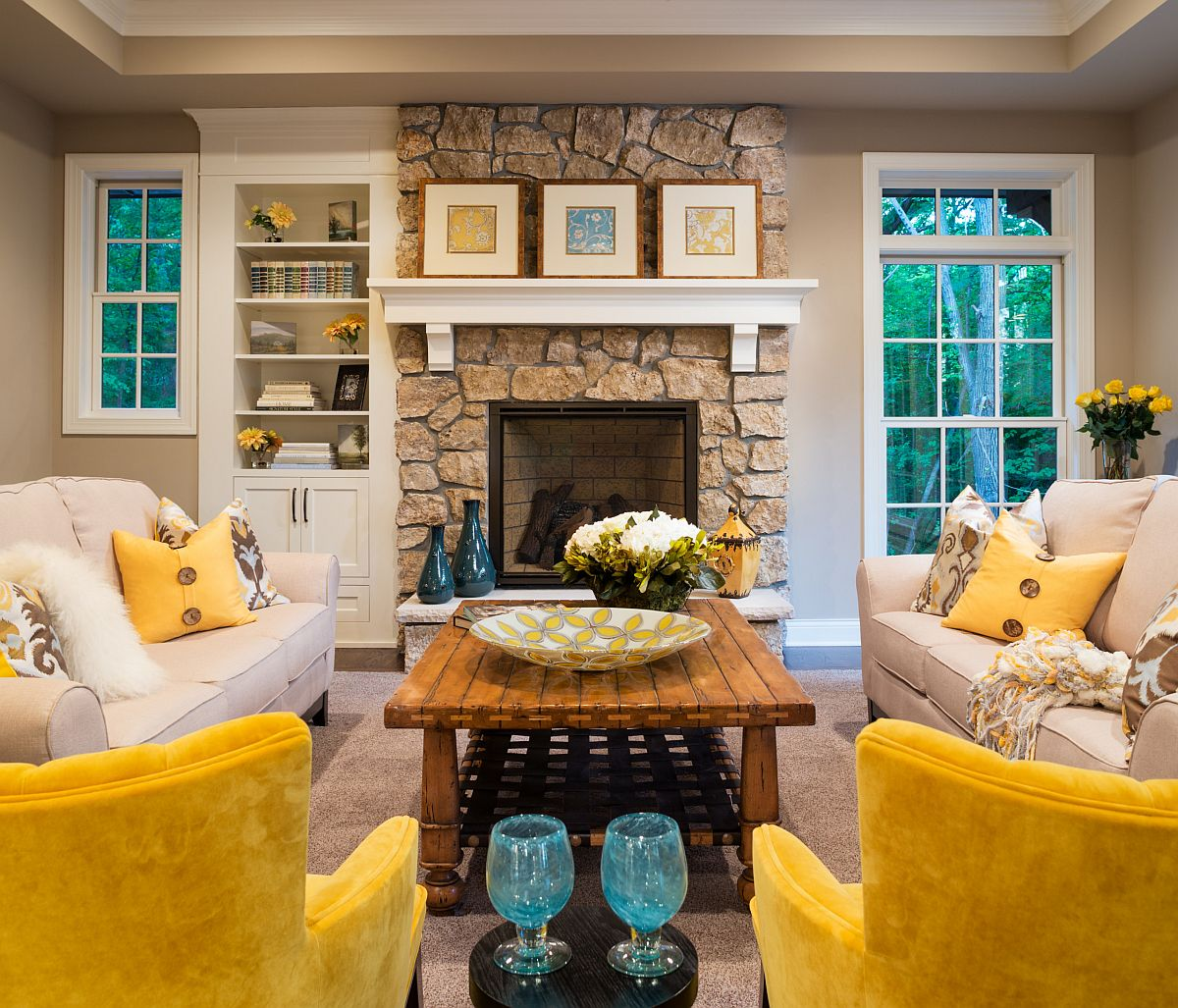 Easy ways to add yellow to any room come with smart accents placed in a curated, neutral setting