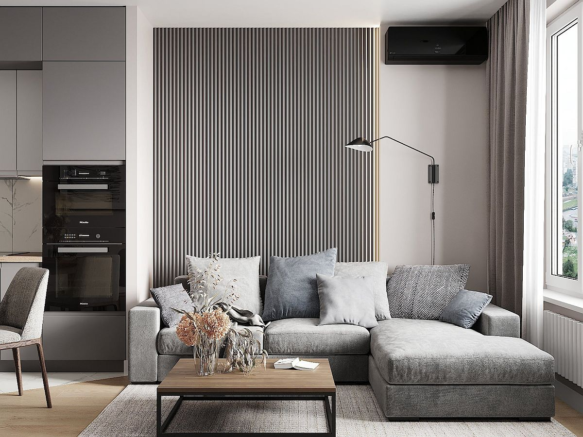 Explore different shades of gray in the modern living room