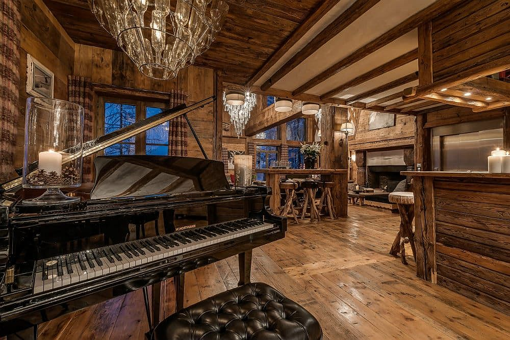 Explore your music talent with the piano at the chalet!