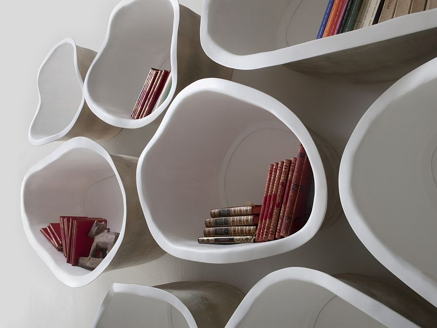 FAVO shelves add stylish pattern and abstract designs to the modern interior