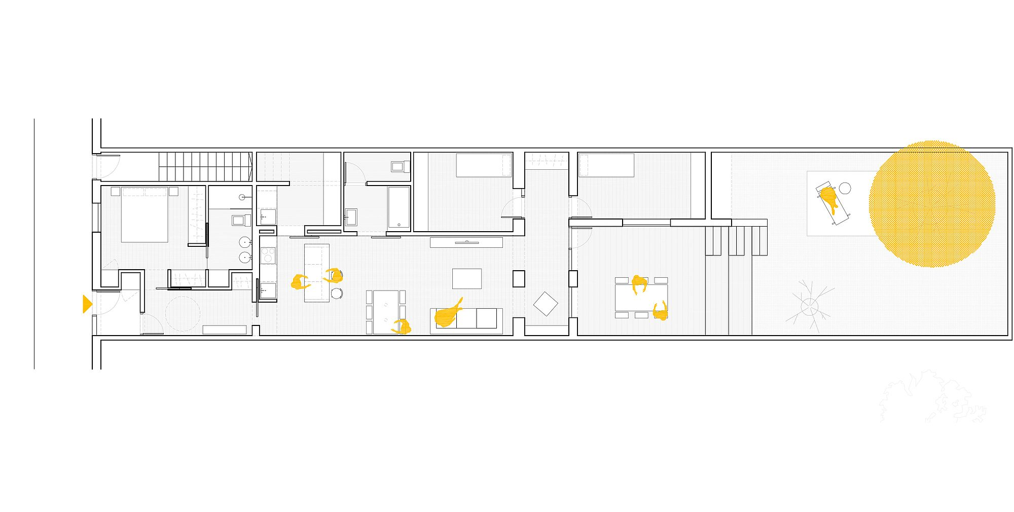 Floor plan of Refurbishment in Sarrià designed by Sergi Pons architects