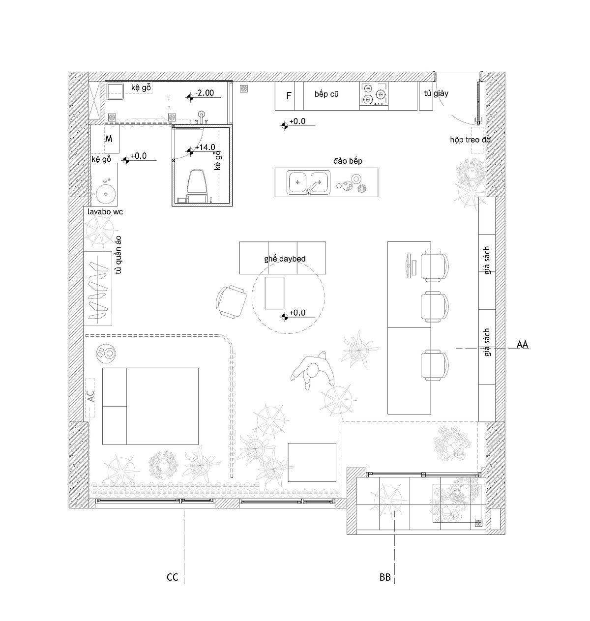 Floor plan of Rivaparc Apartment Renovation designed by Nhabe Scholae
