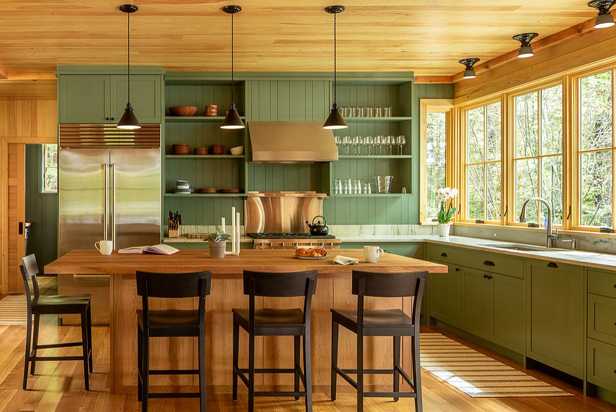 Green is a hot hue in the kitchen as you head into winter of 2020