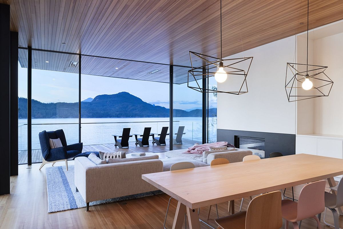 Minimal contemporary living are aof the house with an open plan design