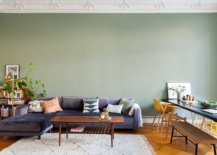 Mint-green-accent-wall-for-the-living-room-with-a-dark-gray-couch-71886-217x155