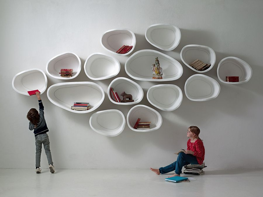 Modern and minimal wall shelves from Imperfetto