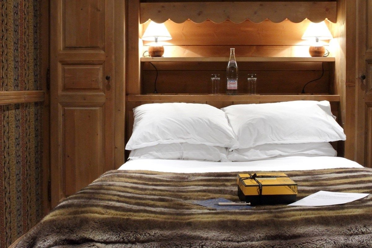 Private and luxurious bedroom at the chalet