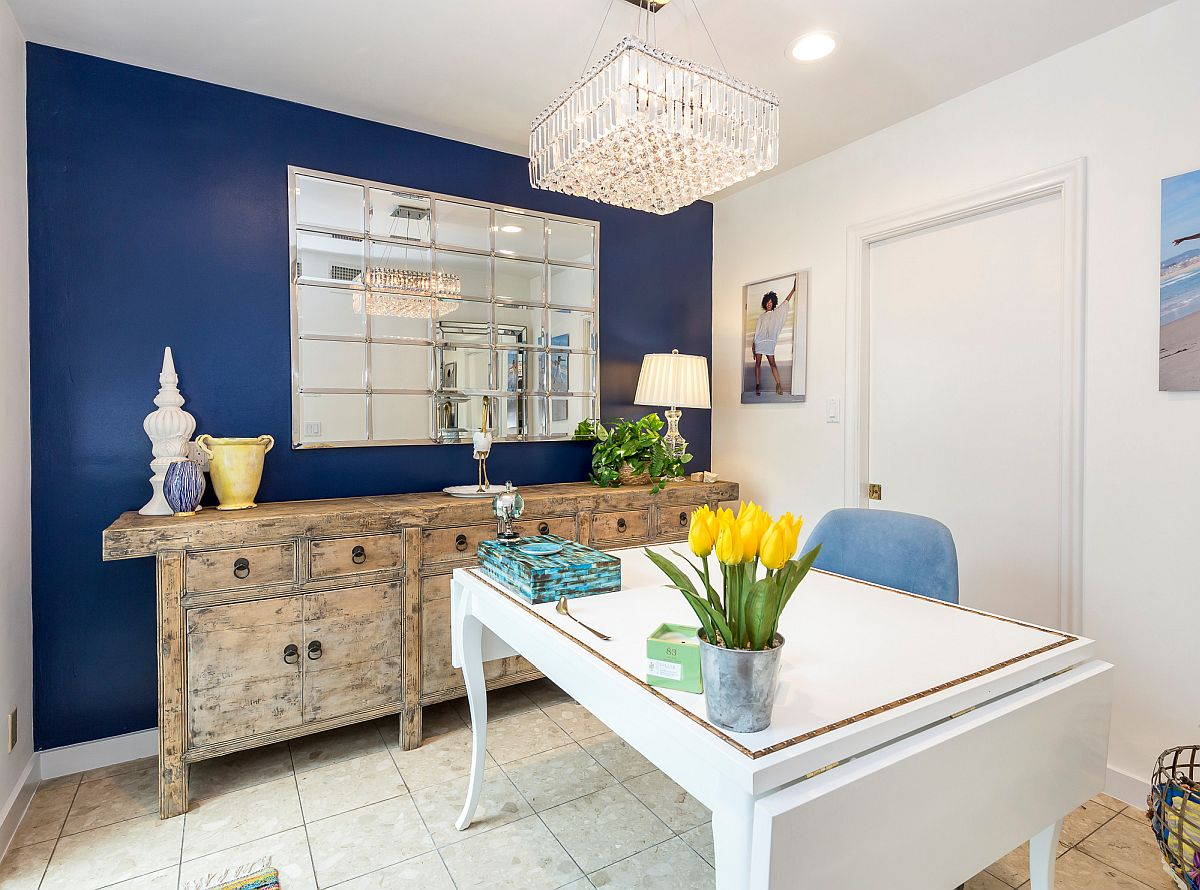 Radiant-blue-wall-is-just-perfect-for-this-white-living-space-with-home-office-12380