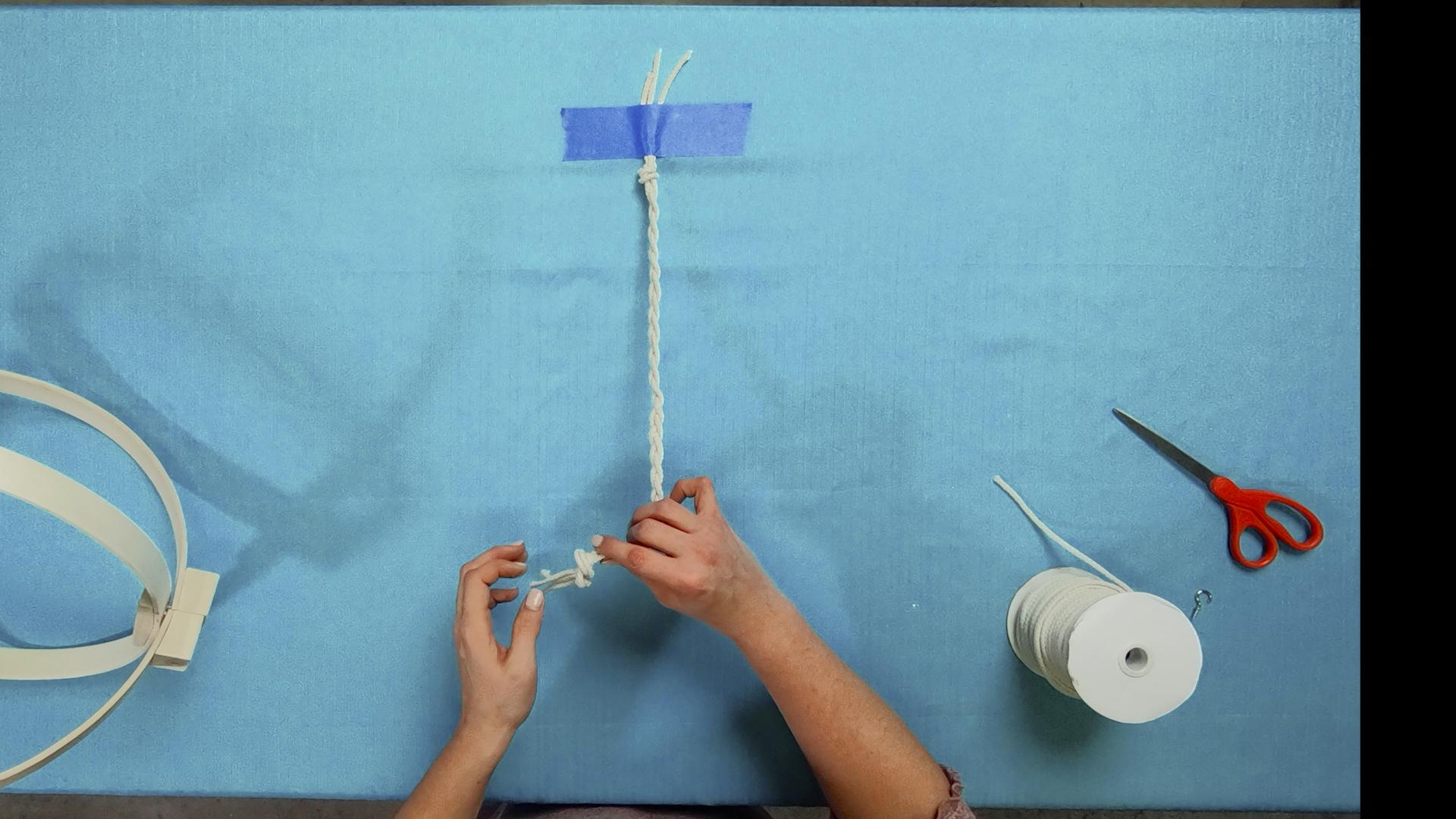 braiding macrame cord for boho hanging planter