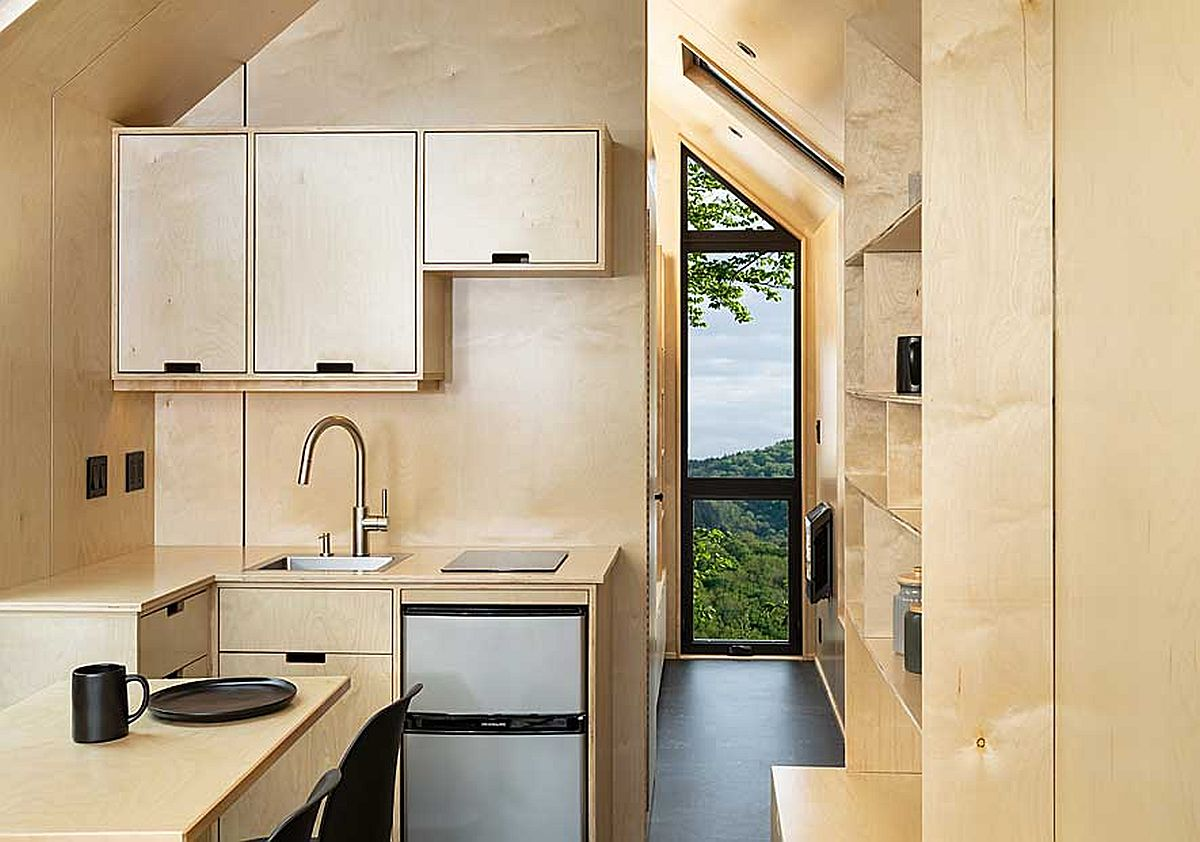 Space-savvy and stylish kitchen of the DW with plenty of storage space
