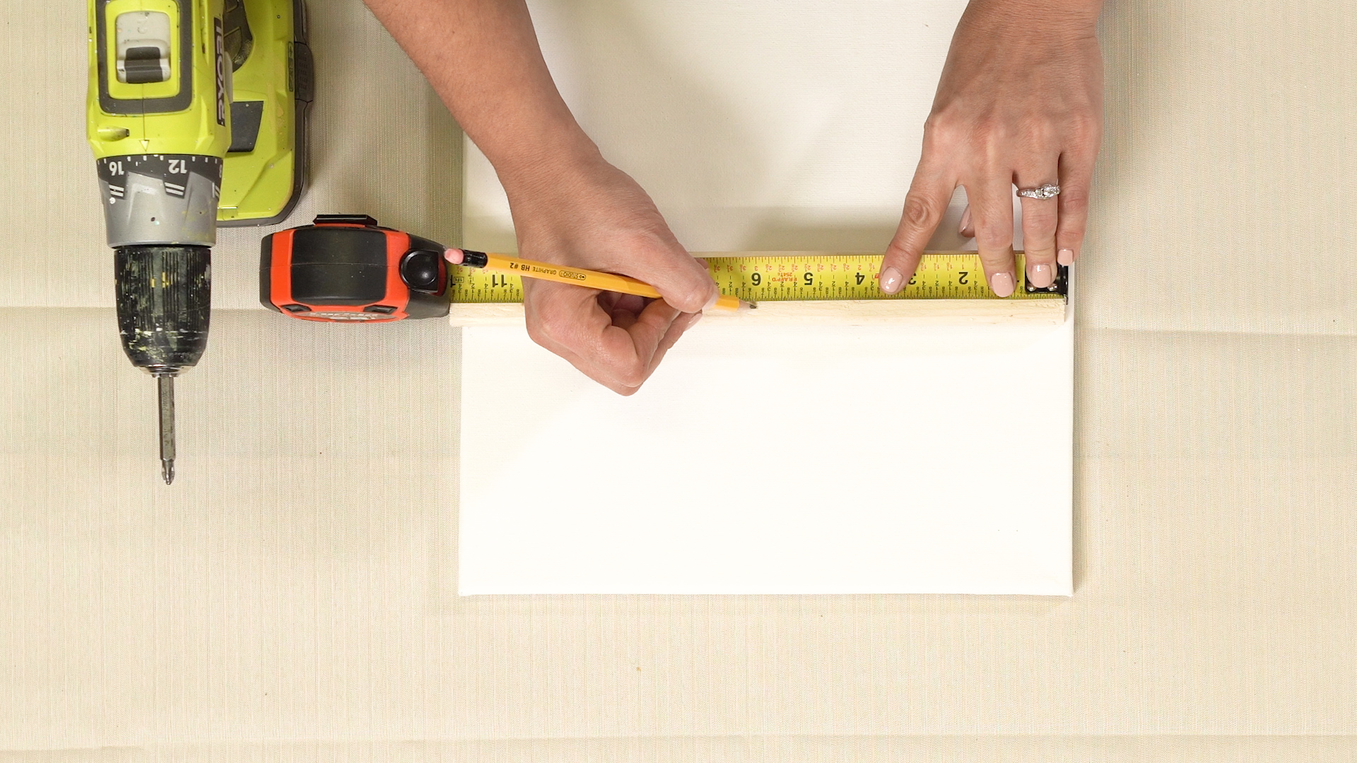 measuring canvas for drill spin art