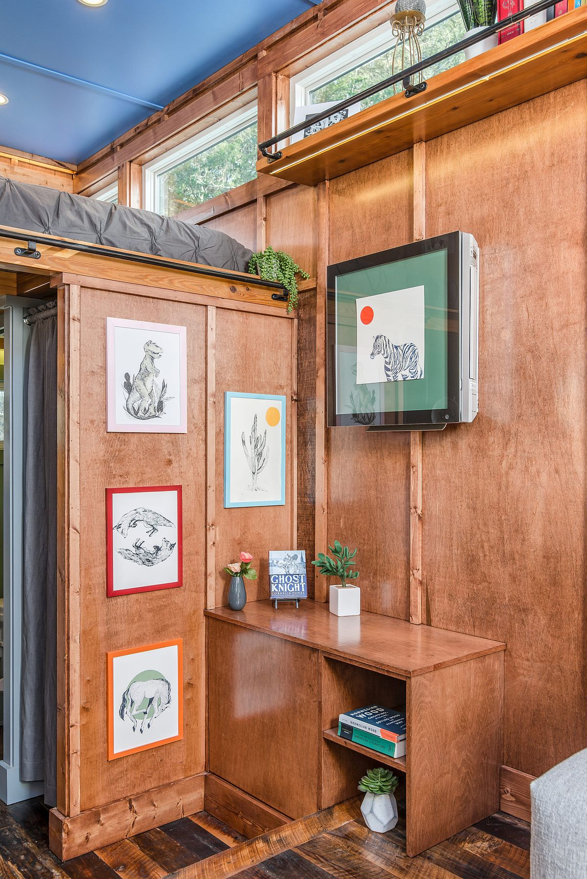 There is space for decorative wall art even in the tiniest of homes!
