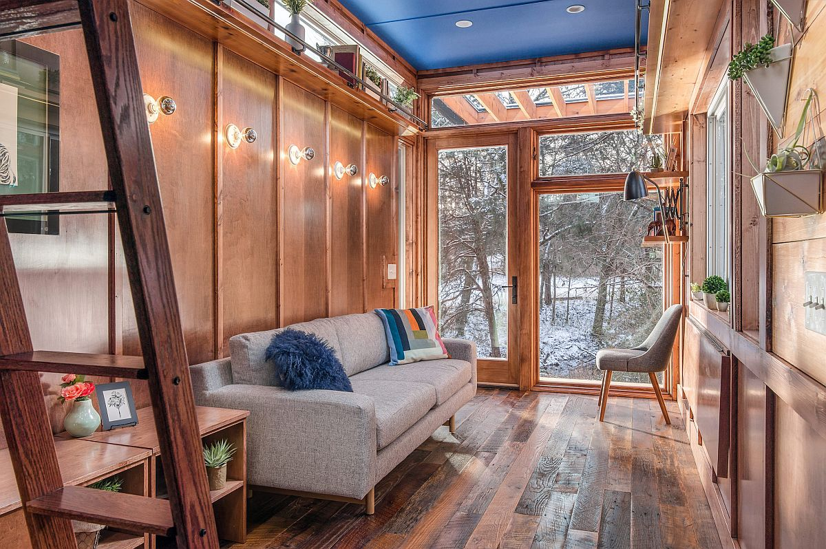 Tiny writer's home offers the perefct refuge for creativity