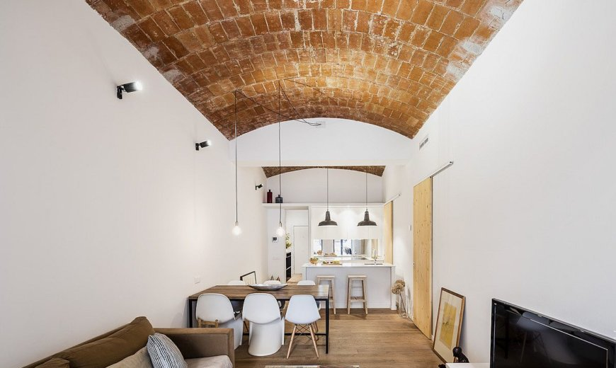 Vaulted Ceiling in Ceramics Inspires Transformation of this Barcelona Home