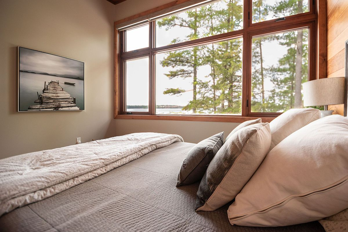 View of Lake Mississauga from the cottage bedroom