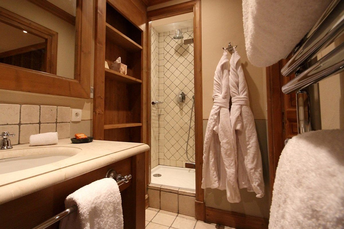 View of the bathroom at the Chalet Bel Sol