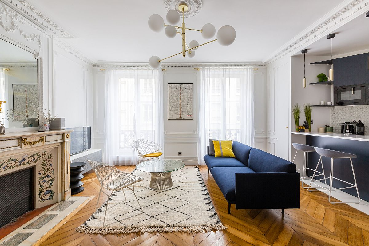 White-and-wood-combined-with-brilliant-pops-of-deep-blue-and-yellow-in-the-modern-open-plan-living-space-14964