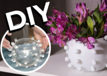 Decoist DIY: Marble Upcycle Vase
