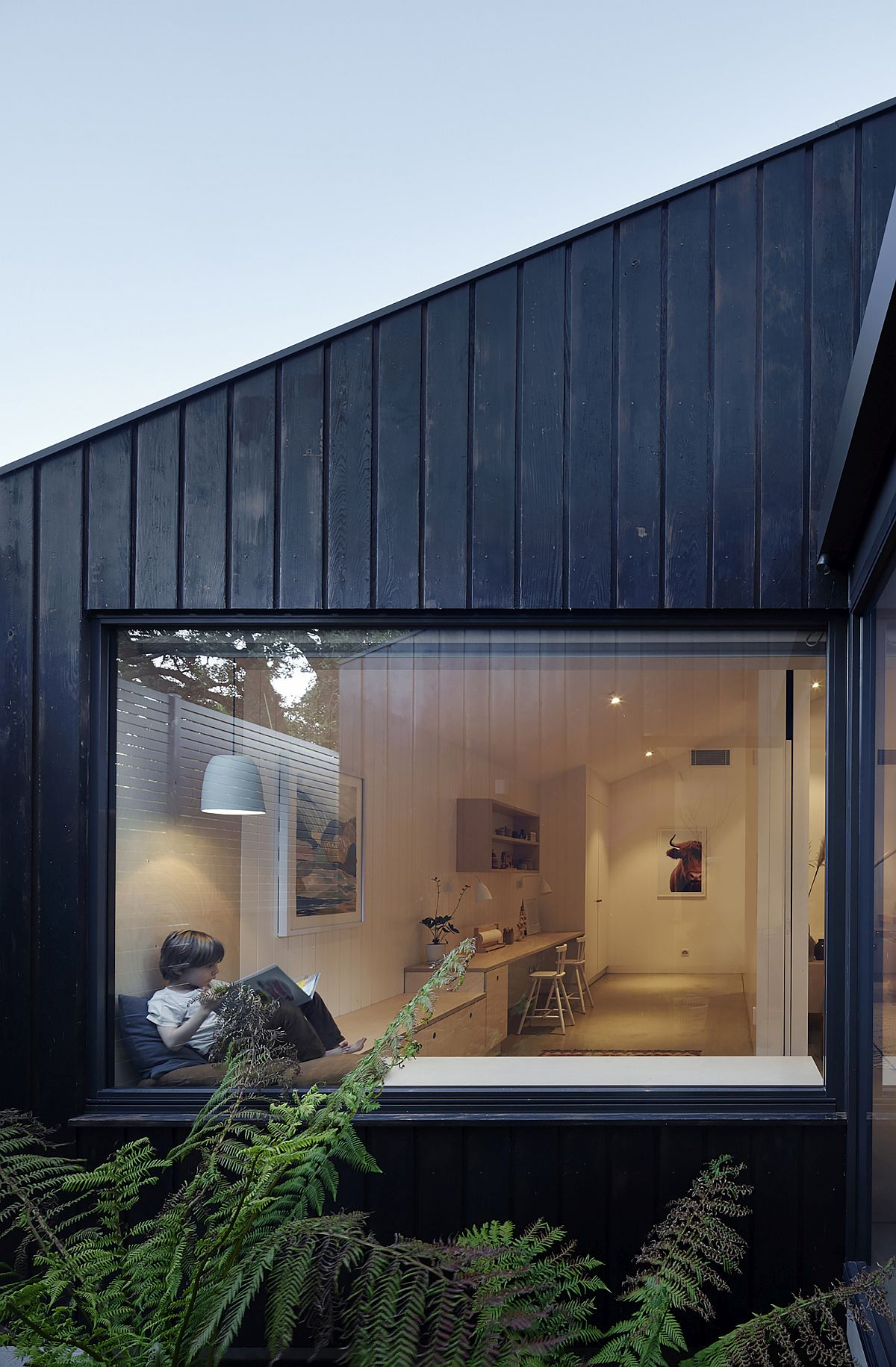 Box-styled windows with seat next to it that offer wonderful and relaxing views
