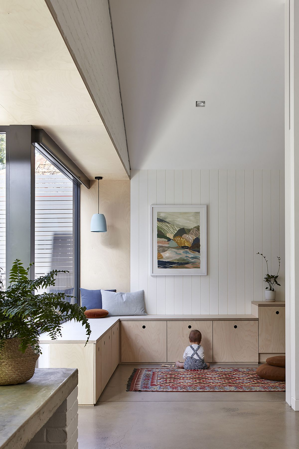 Bright, light-filled and modern living areas of the home in Unley Park, Adelaide