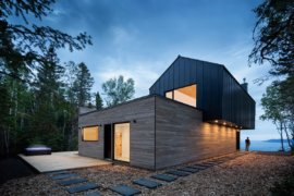 Inverted Floor Plan Brings Majestic River Views to this Quebec Home