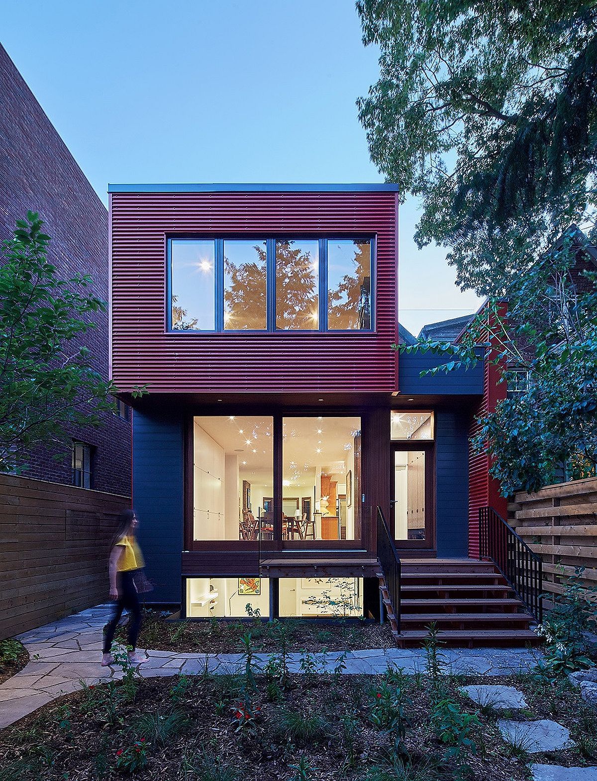 Contemporary-red-exterior-of-the-home-with-dark-gray-and-glass-thrown-into-the-mix-28013