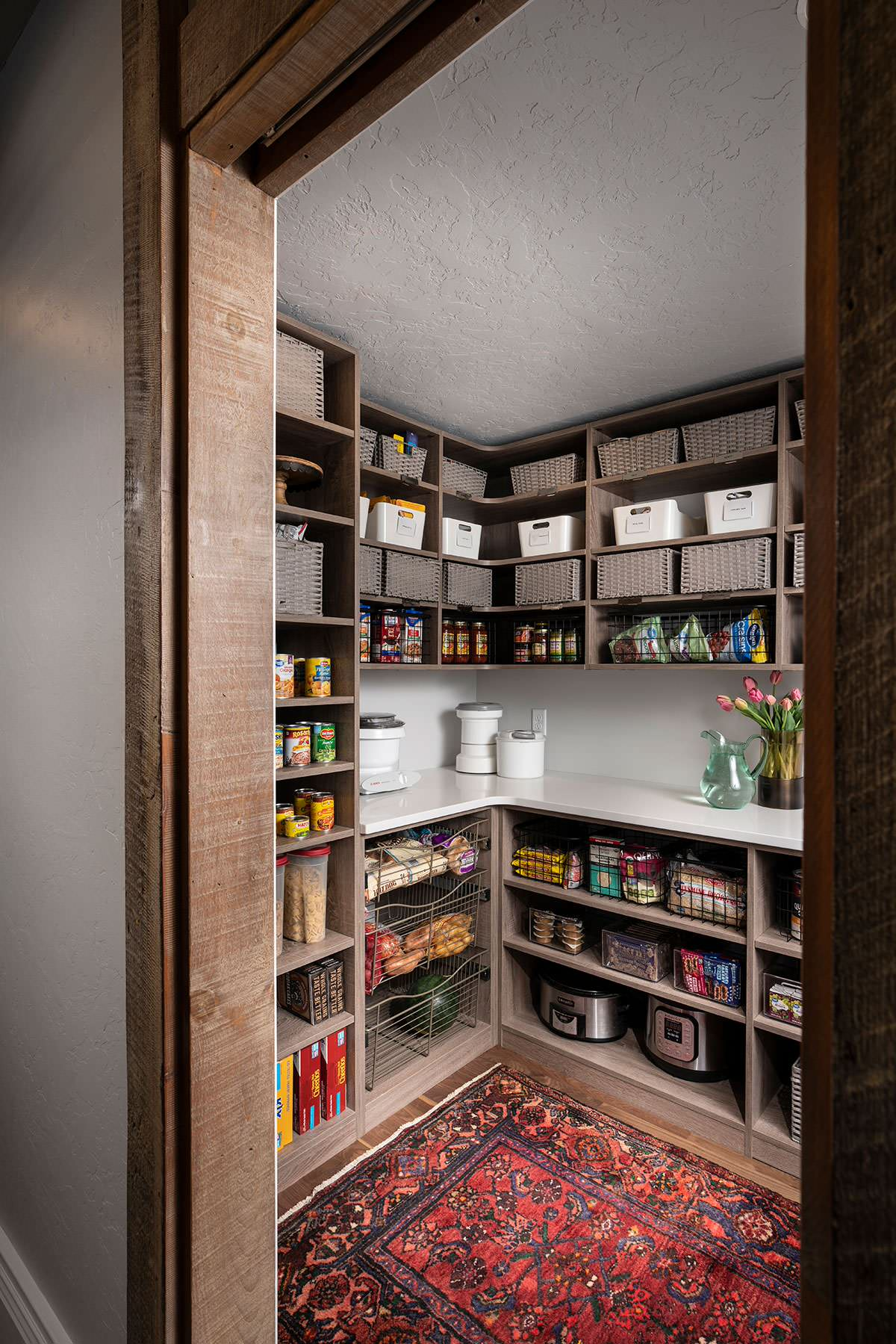 Find some extra space for a new pantry in the kitchen