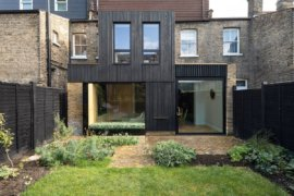Dramatically Revamped London Home Charms with Charred Timber Exterior