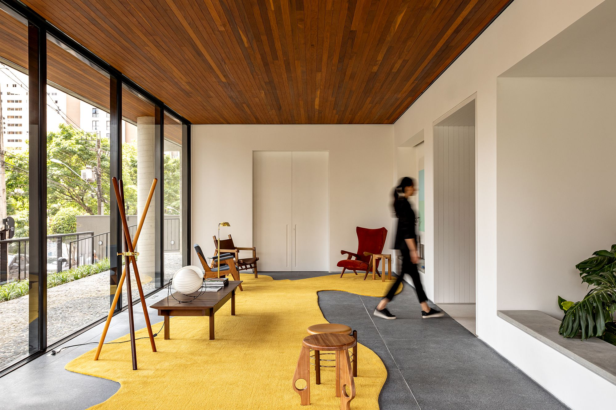 Hall and entry of modern building with a style that feels refined