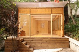 Well-Lit and Woodsy Garden Yoga Studio is a Serene Backyard Escape