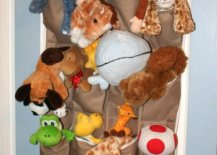 Shoe organizers have enough space for all your stuffed animals