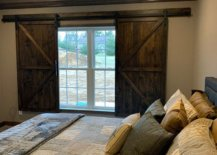 barn style shutters in bedroom