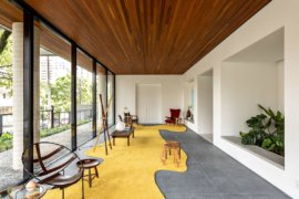 Creative Common Area in Brazil Combines Trendy Design with Iconic Décor