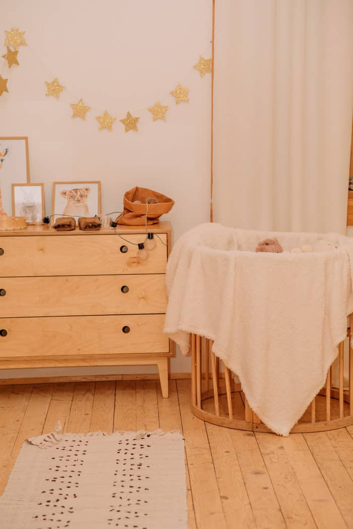 Wooden cabinet for toys