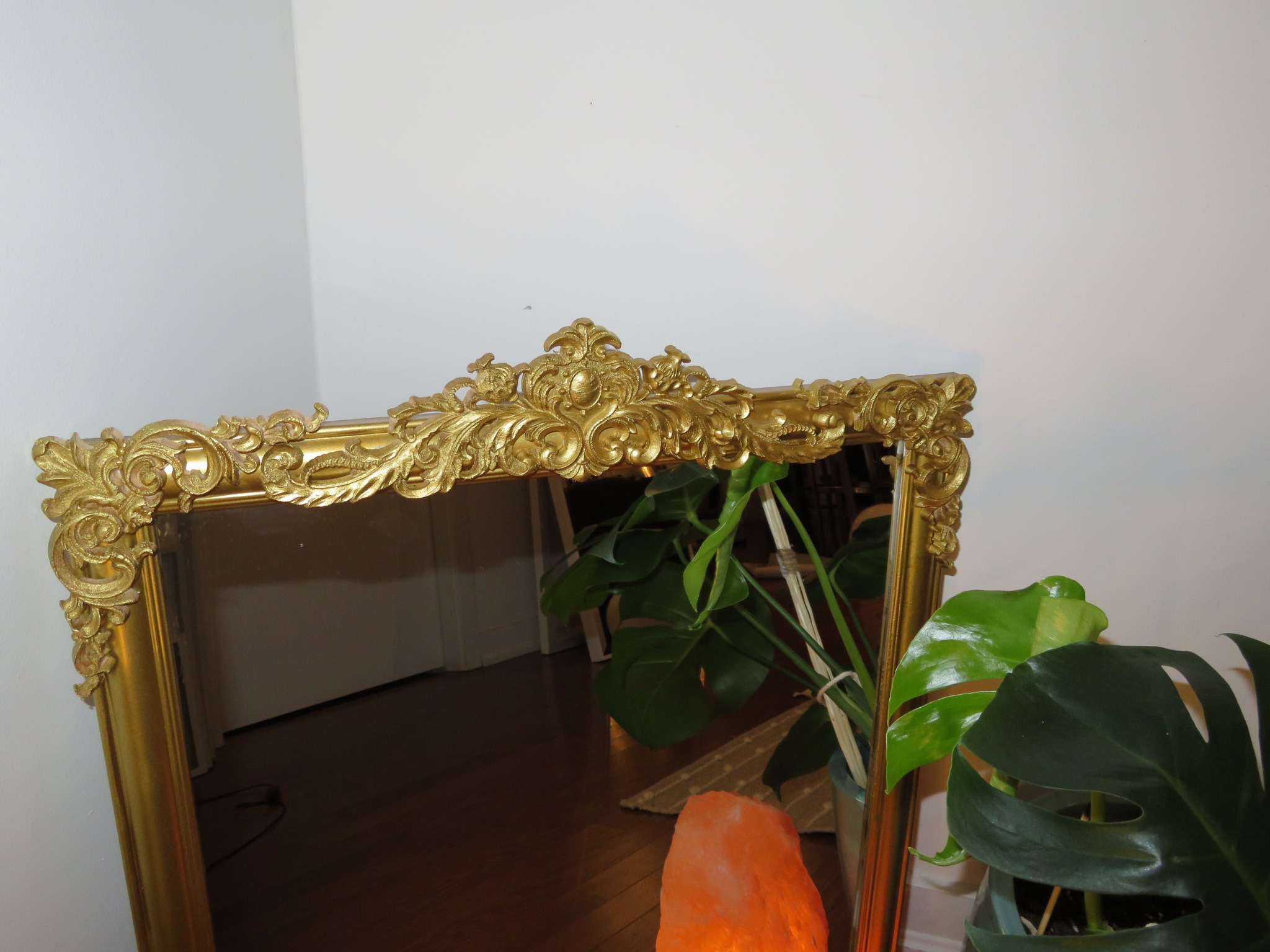 DIY Faux Brass Vintage Inspired Mirror