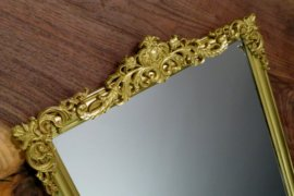 Exude Parisan Style With A DIY Vintage Inspired Faux Brass Mirror