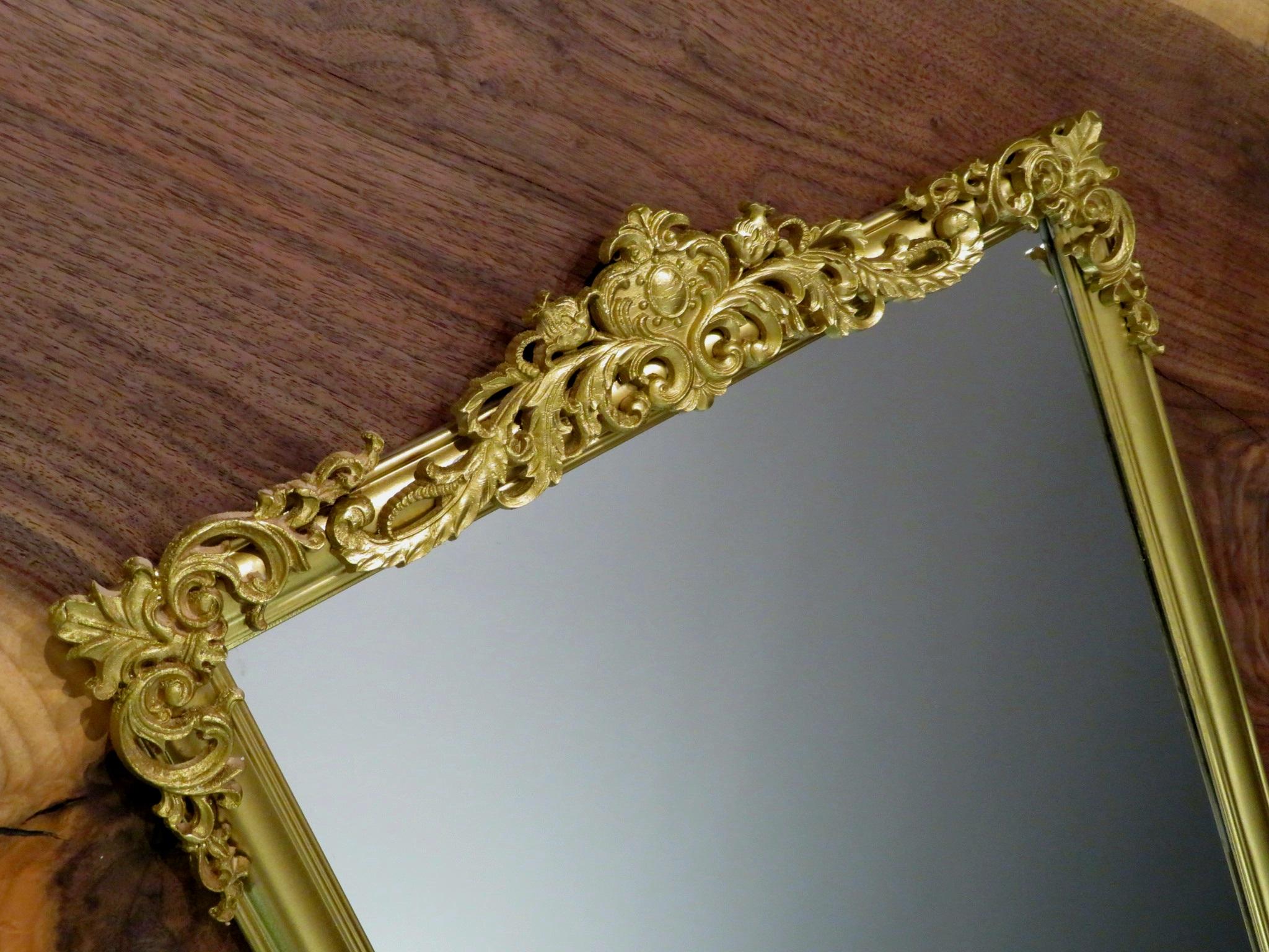 DIY Vintage Faux Brass Mirror
