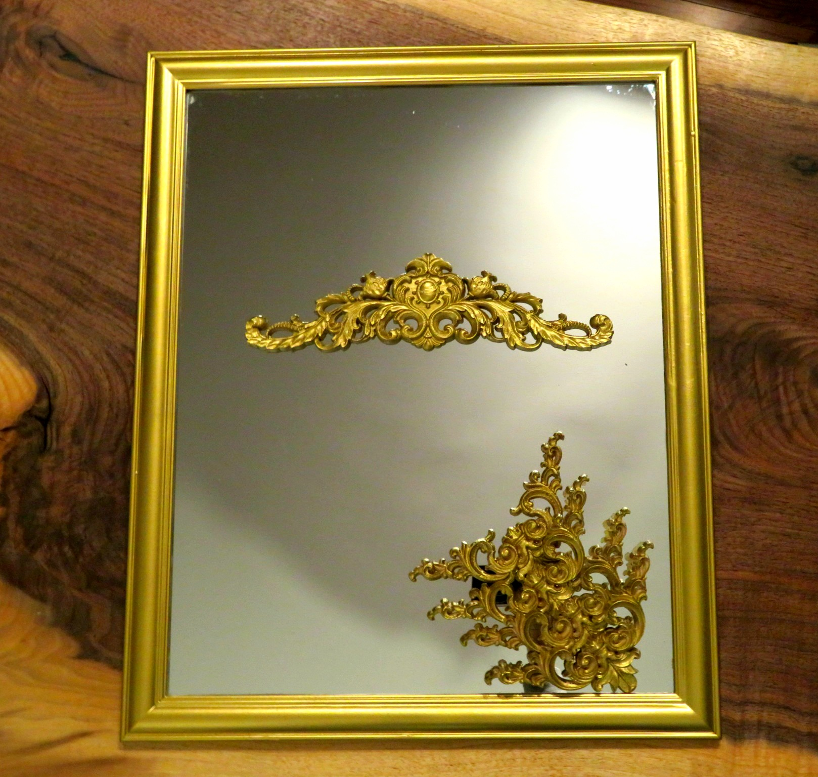 DIY Vintage Mirror Project Brass Spray Painted
