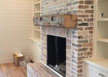 Aged Brick Fireplace