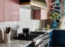 Artsy kitchen backsplash