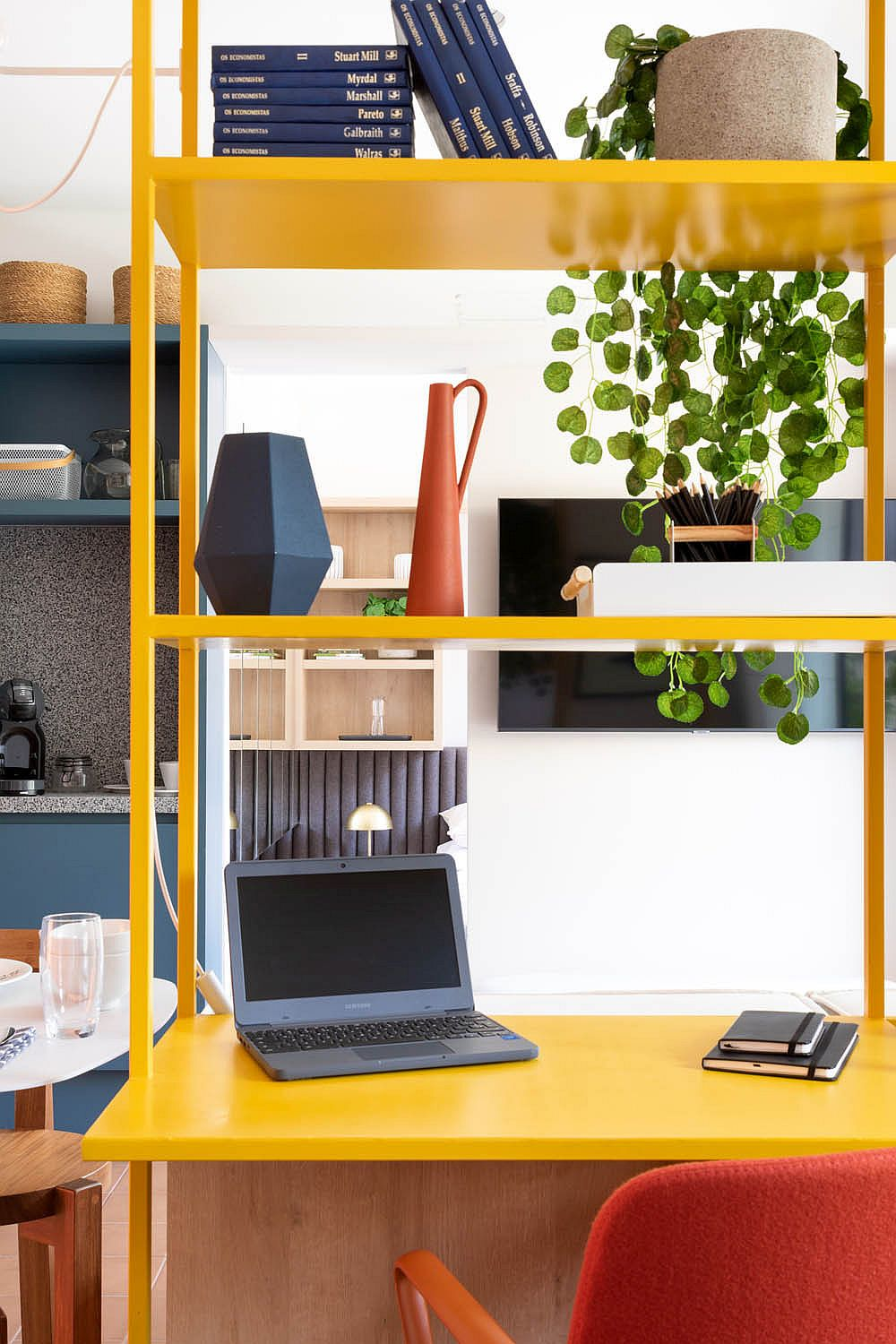 Bespoke-home-workstation-in-yellow-adds-color-and-textural-contrast-to-the-interior-51185