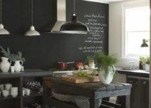Chalk wall backsplash for kitchens