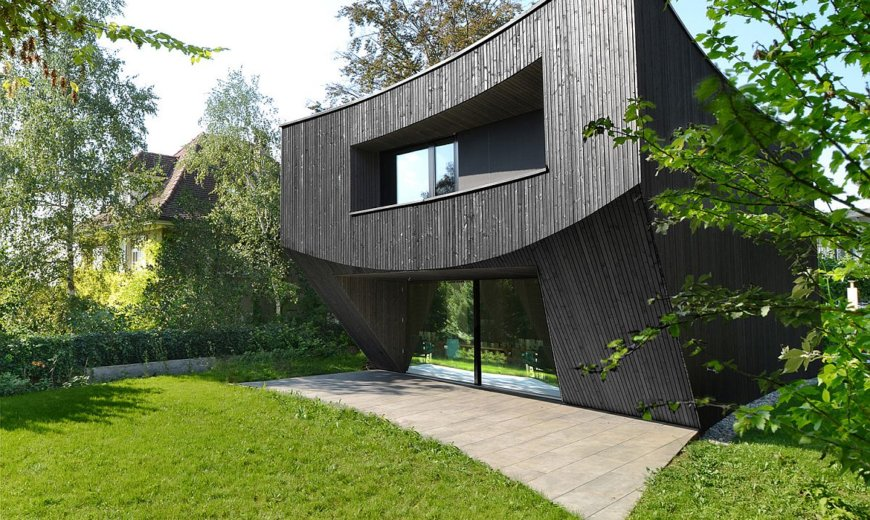 Innovative Curve Meets the Swiss Box at this Fabulous Wooden House