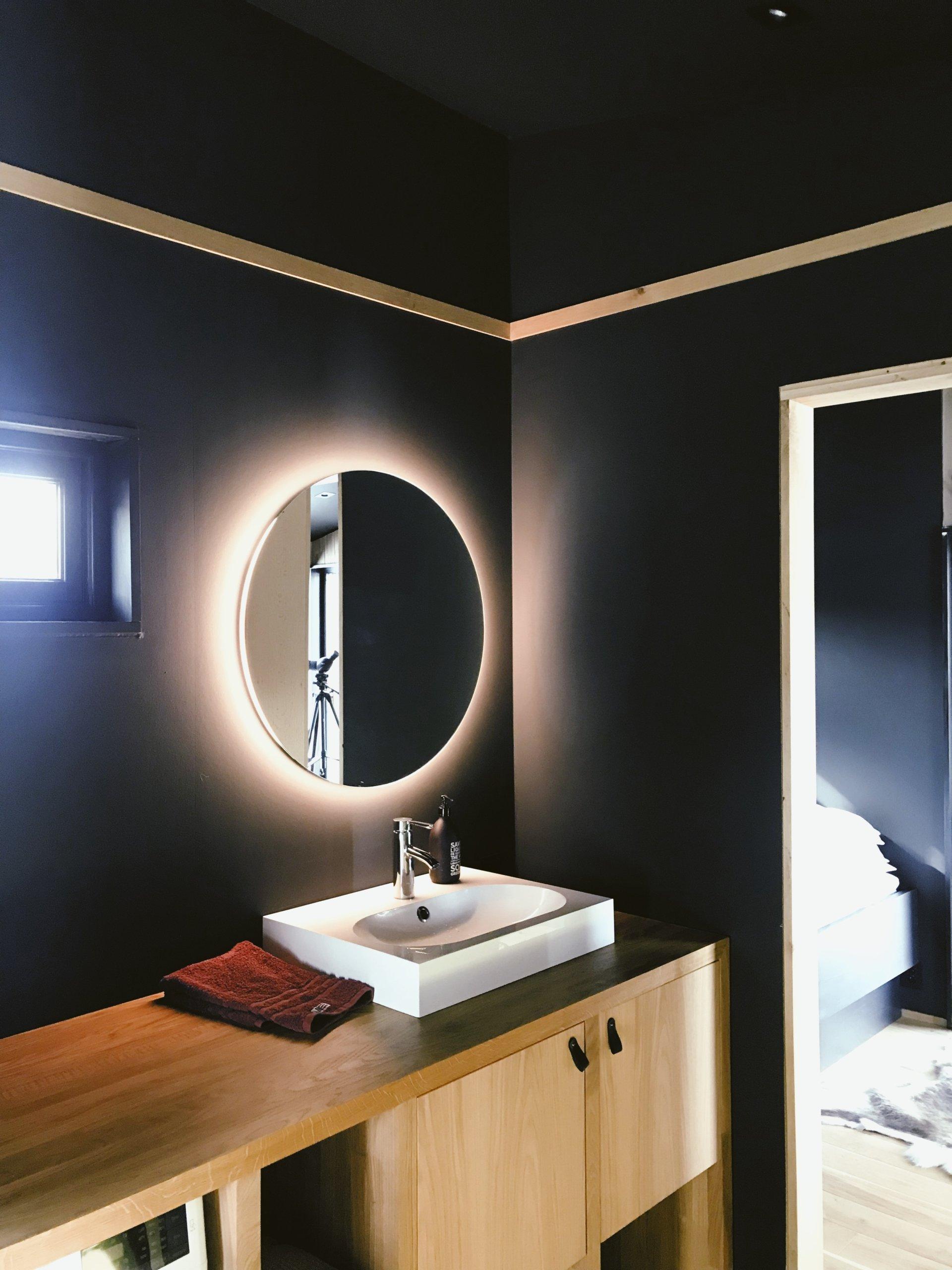 Dark bathroom walls