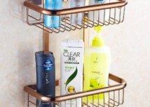 Double tier shower basket
