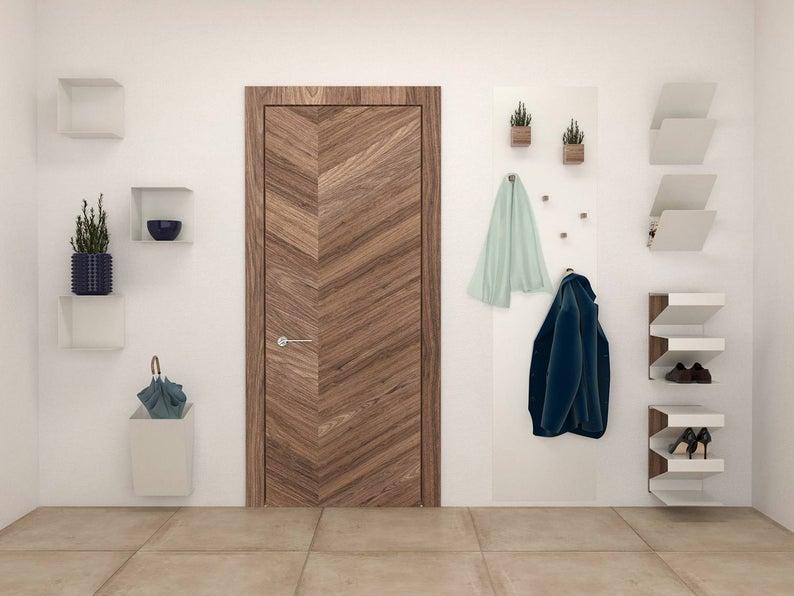 Entryway interior with shoe storage