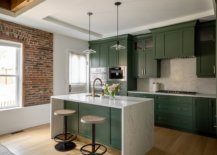 Exquisite-dark-green-kitchens-add-color-to-this-modern-industrial-kitchen-with-an-exposed-brick-wall-section-33689-217x155