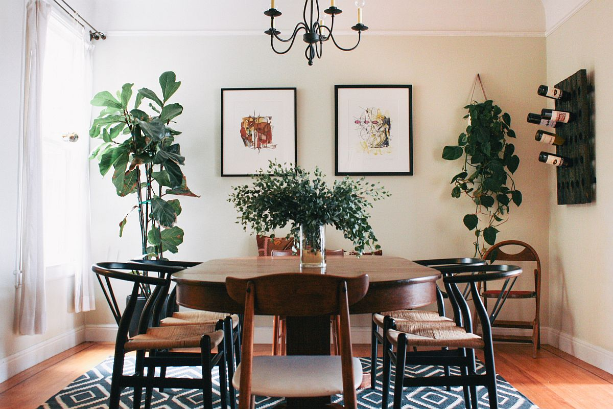 Finding space for greenery in the modern dining room